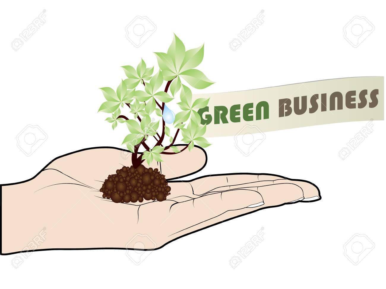 green business offer Stock Vector - 10451013