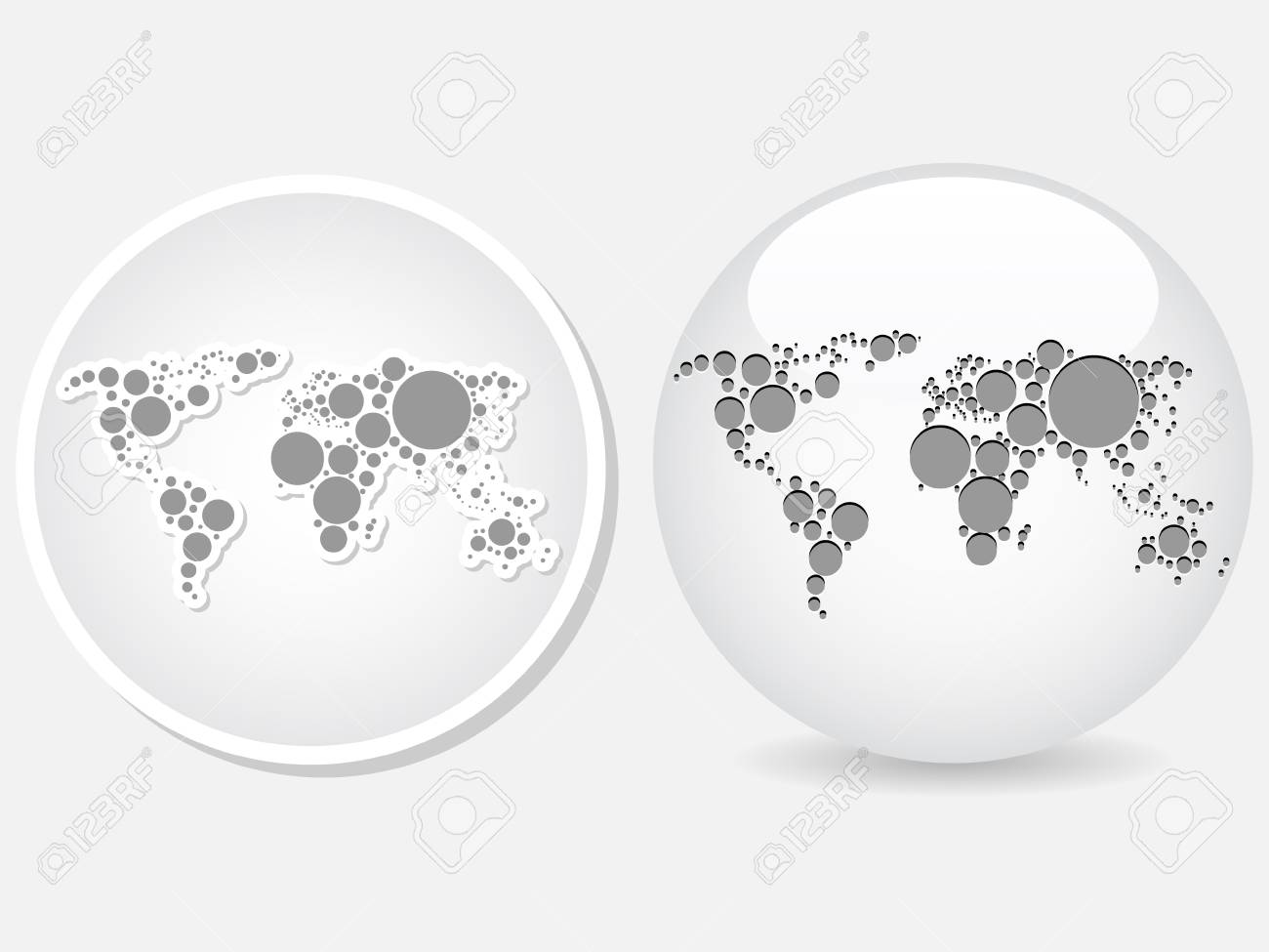 World map icon royalty free cliparts vectors and stock vector world map icon gumiabroncs Choice Image