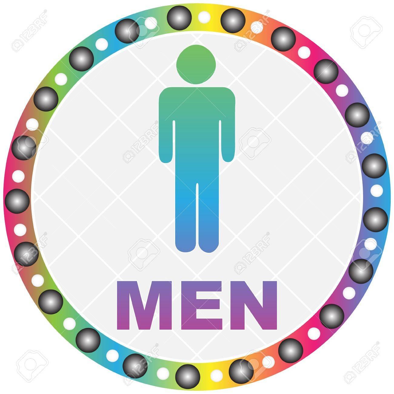 men toilet label Stock Vector - 10466806