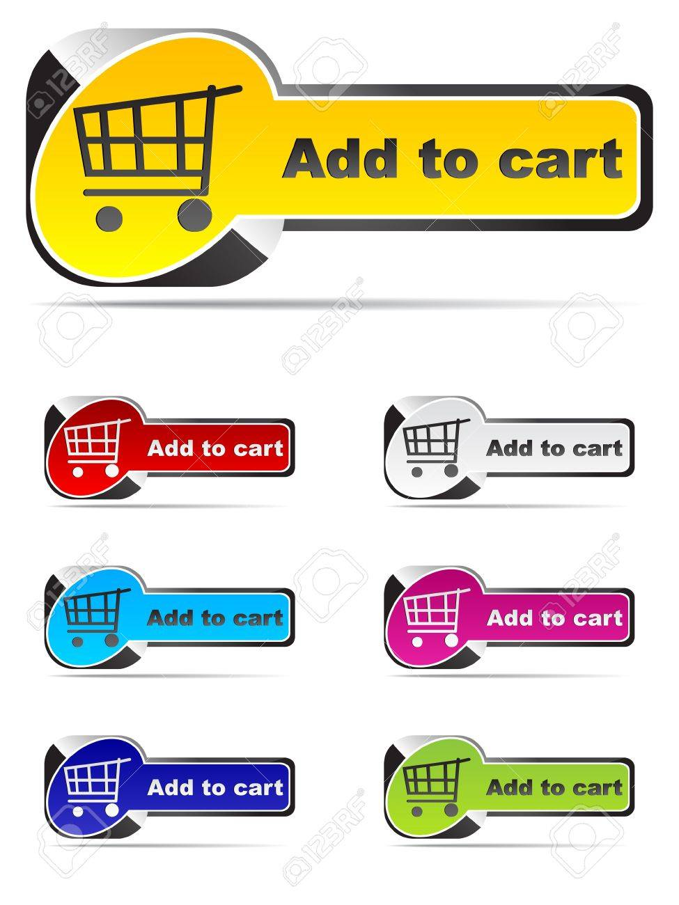 add to cart buttons Stock Vector - 10497009