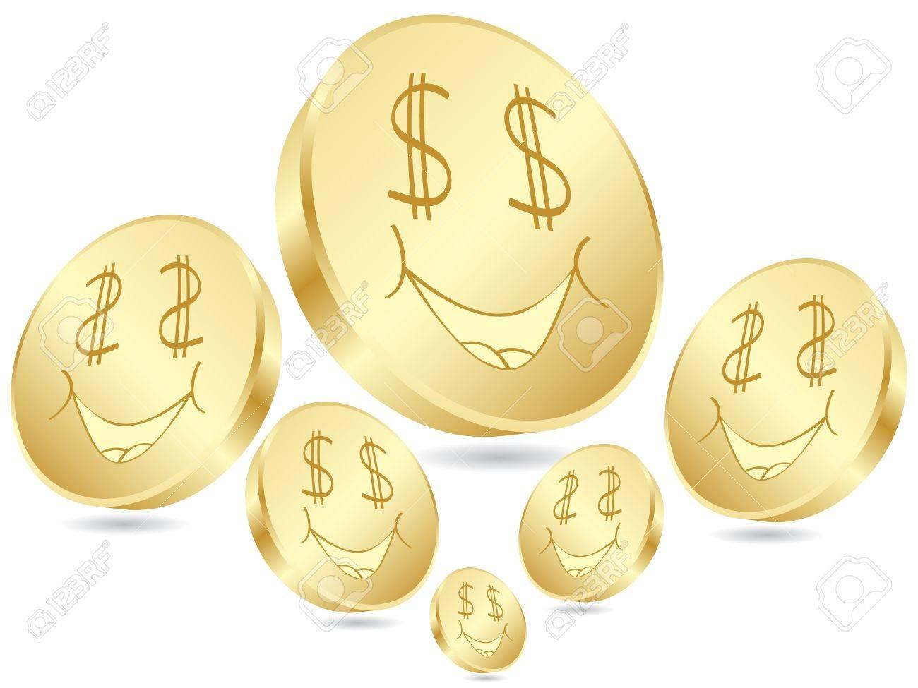 dollar coins poster Stock Vector - 10496902