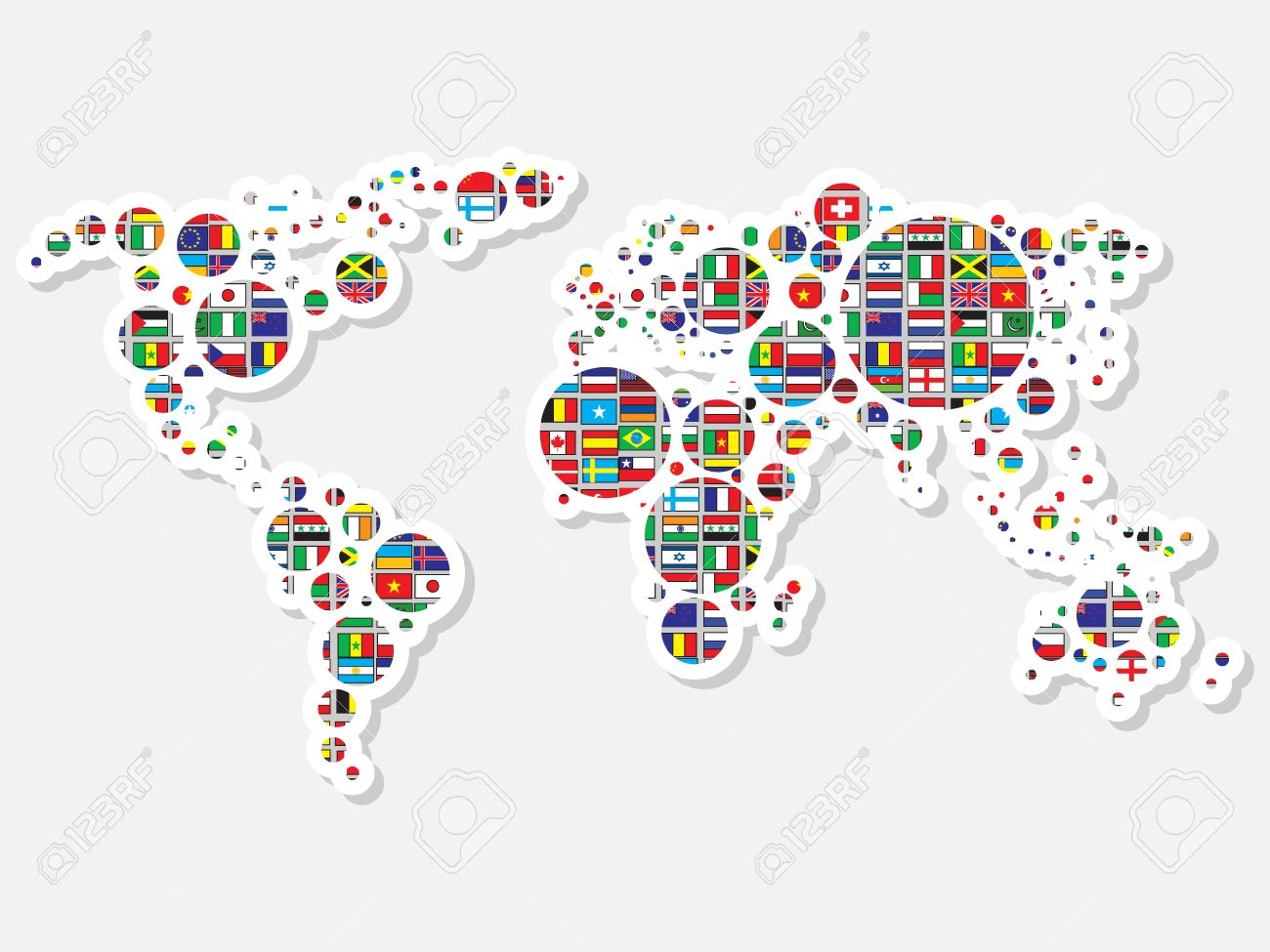 World map with flags royalty free cliparts vectors and stock vector world map with flags gumiabroncs Image collections