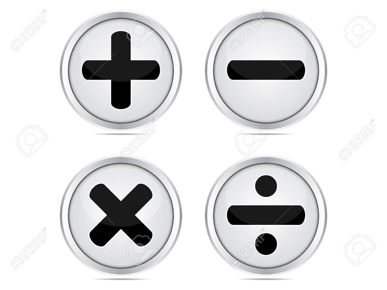 mathematics buttons Stock Vector - 10496689
