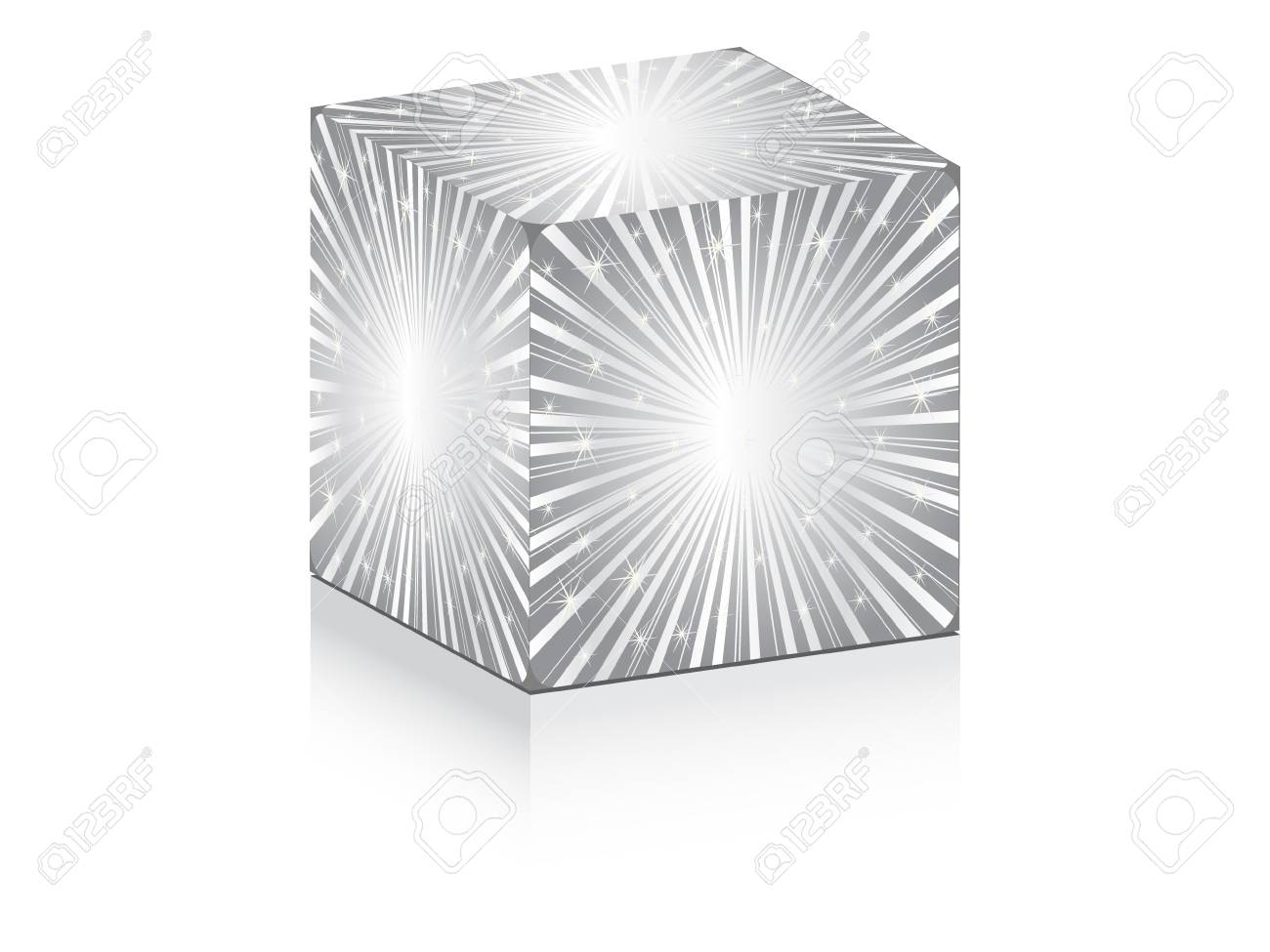 cube with shiny sunbeam on it Stock Vector - 10497207