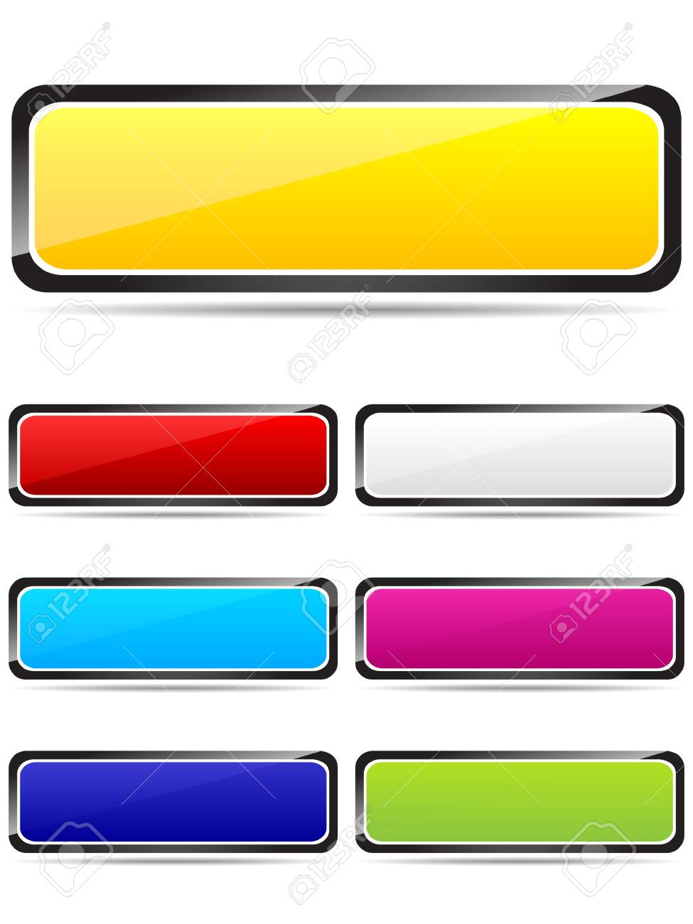 Colorful rectangle buttons vector illustration Stock Vector - 10568112