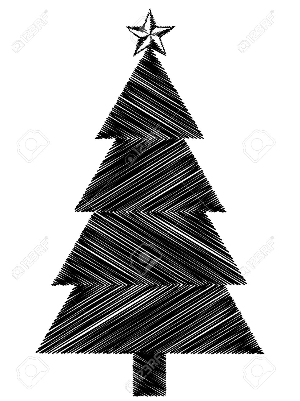 Black Christmas Tree Icon