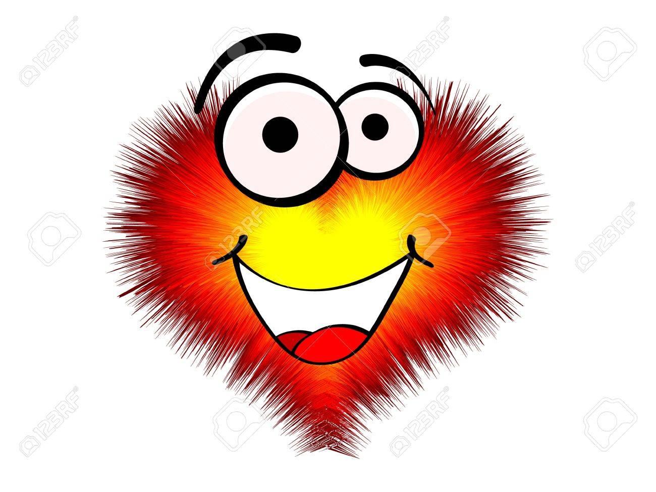 Coeur D Amour Drole Clip Art Libres De Droits Vecteurs Et Illustration Image 10568296