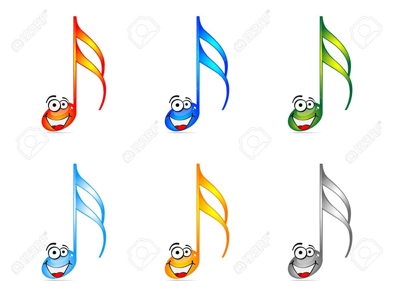 Shiny musical notes vector illustration Stock Vector - 10568292