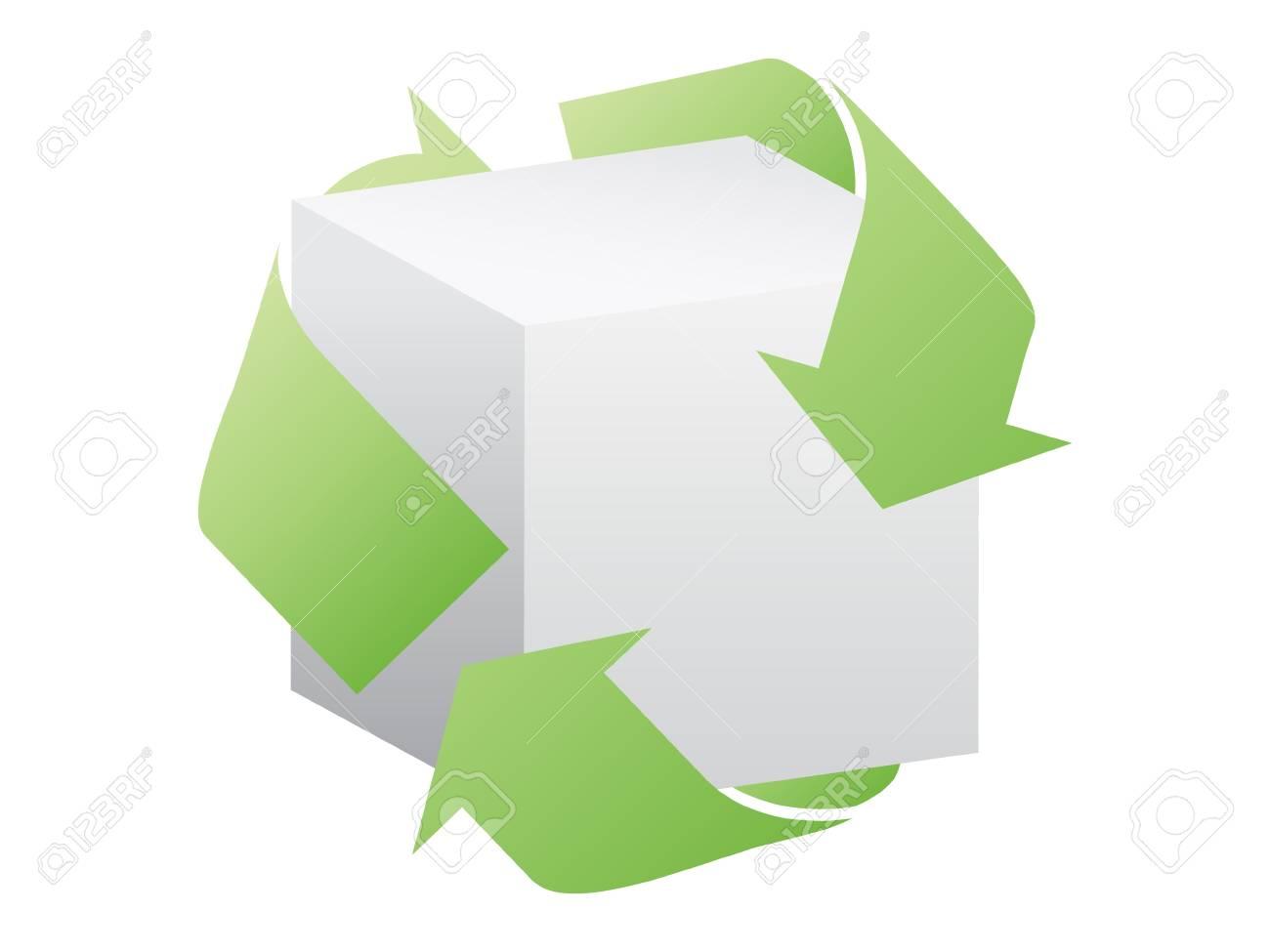 recycling box vector illustration Stock Vector - 10567898
