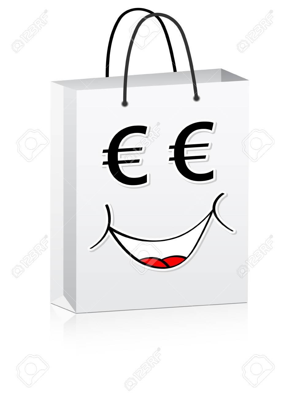 white shopping bag for advertising vector illustration Stock Vector - 10567970