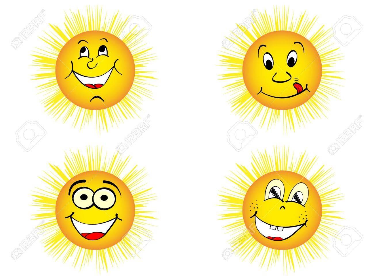 happy sun vector illustration Stock Vector - 10568039