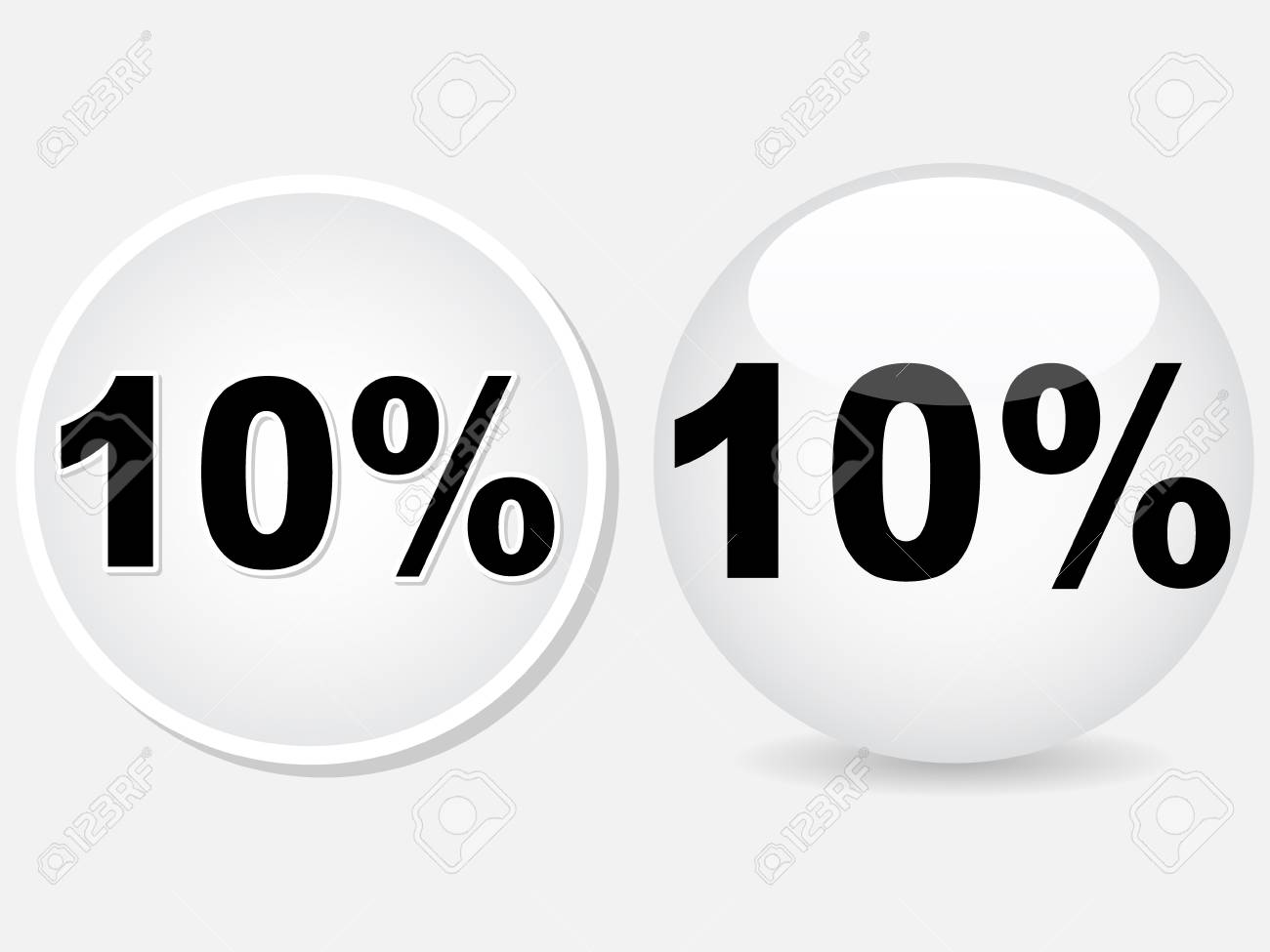 ten percent discount icon vector illustration Stock Vector - 10567906