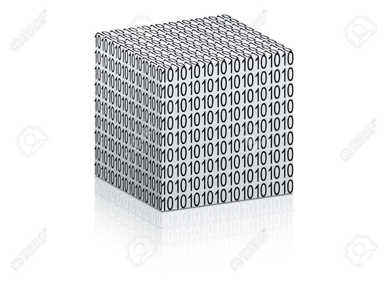 white boxes with binary code on it vector illustration Stock Vector - 10706224