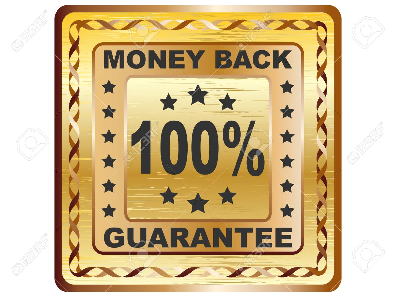 100 % GUARANTEE label vector illustration Stock Vector - 10740637
