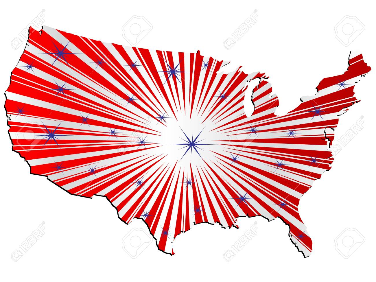 American Map Vector.American Map Vector Illustration Royalty Free Cliparts Vectors And