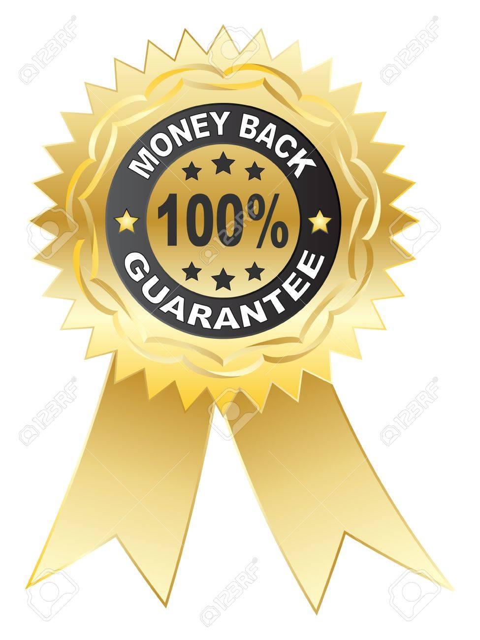 100 % GUARANTEE medal vector illustration Stock Vector - 10787497