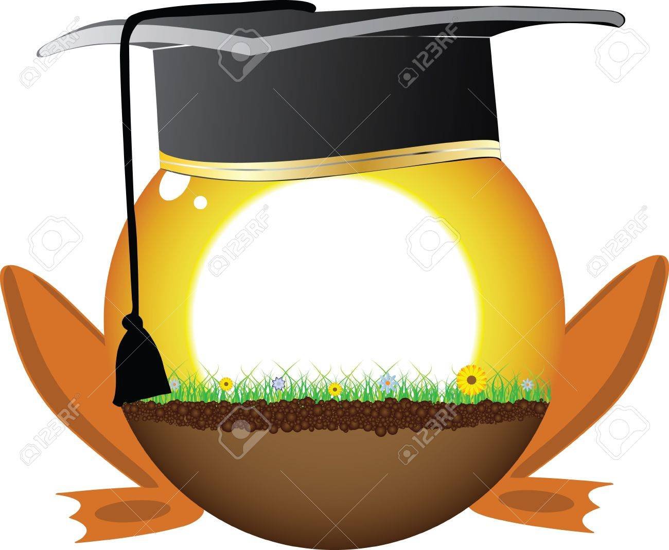 sunshine ball with graduation hat Stock Vector - 10797606