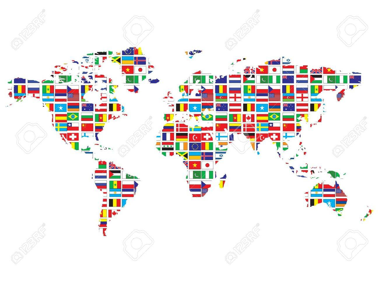 World map with flags stock photo picture and royalty free image stock photo world map with flags gumiabroncs Image collections