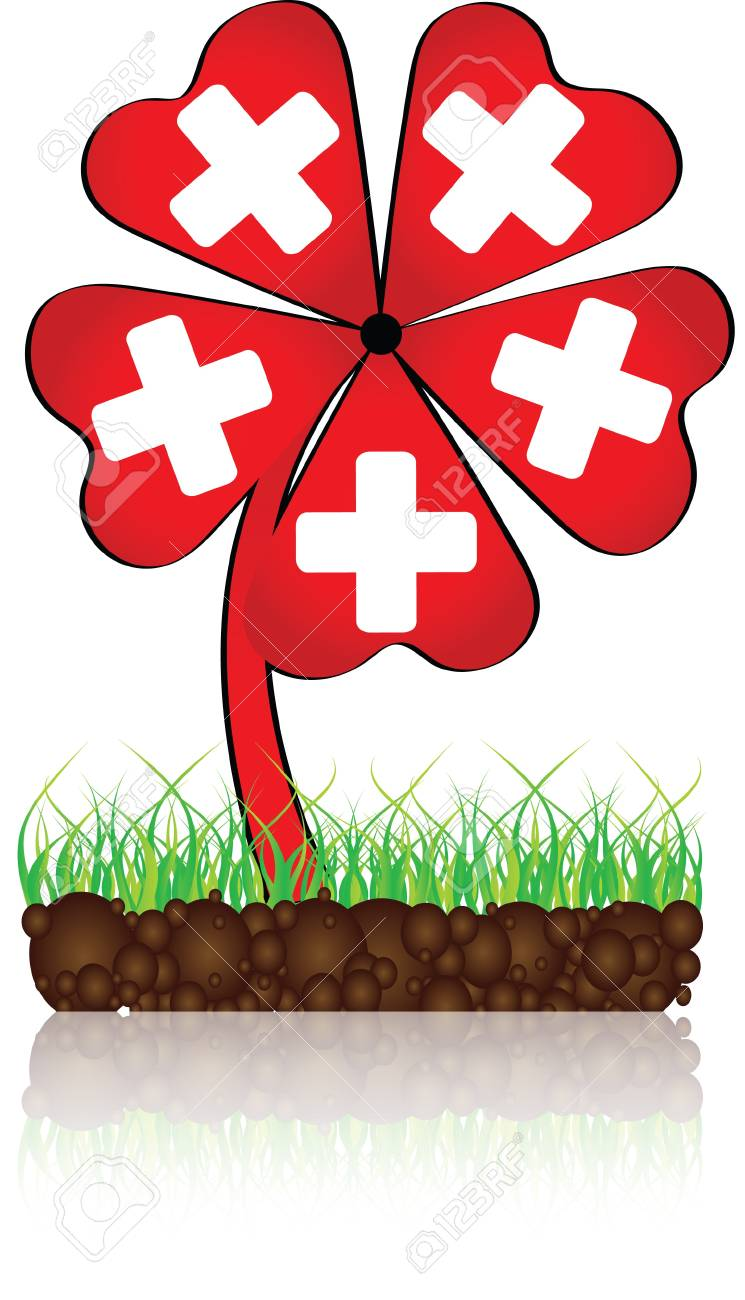 help banner made of clover Stock Vector - 10806587