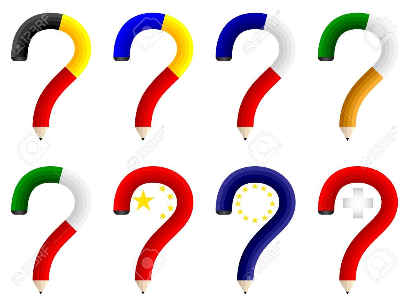 question pencils Stock Vector - 10806112