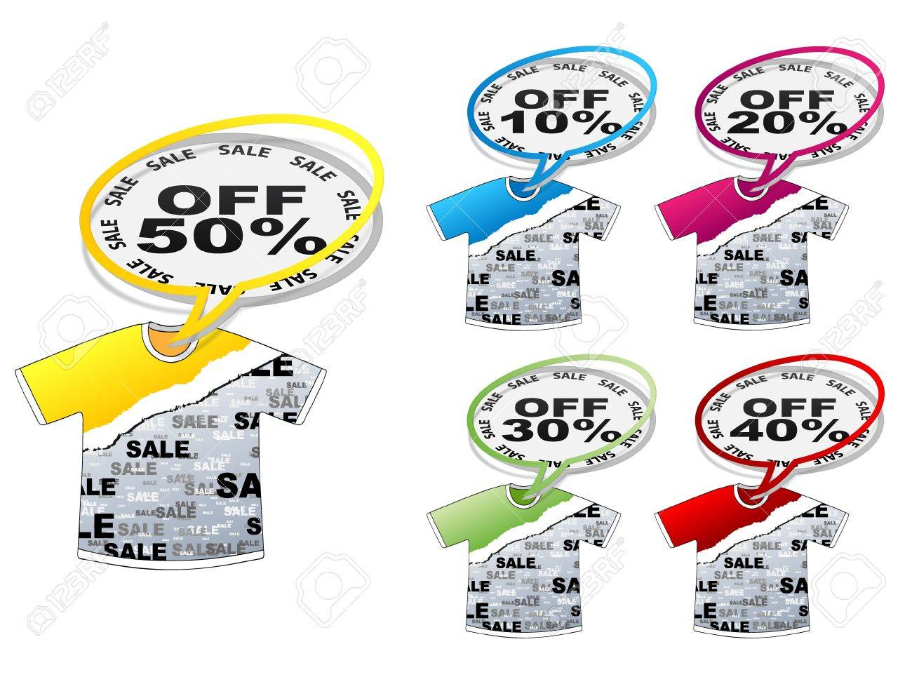 t-shirt with discount tags Stock Vector - 10805585