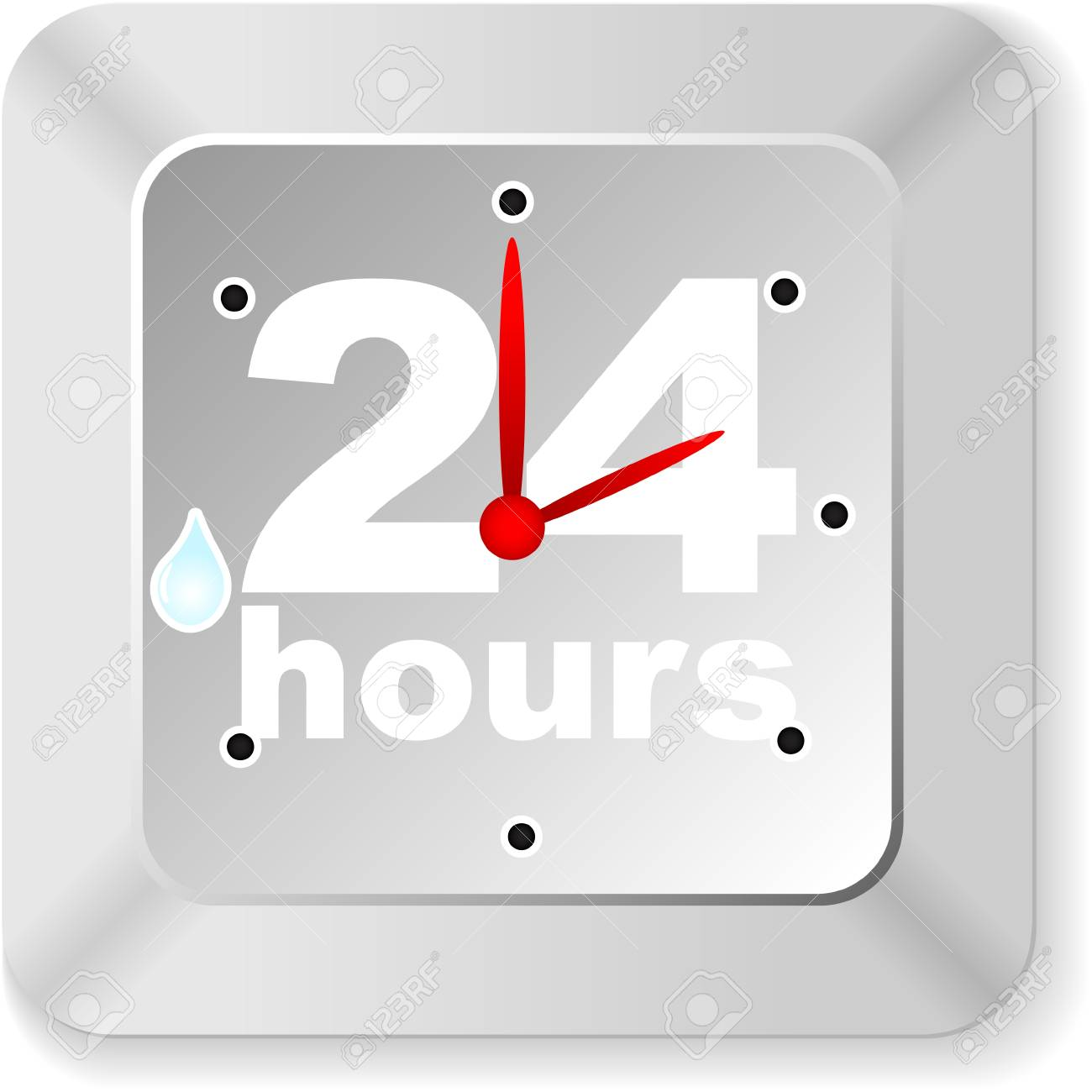 twenty hours button Stock Vector - 10806102