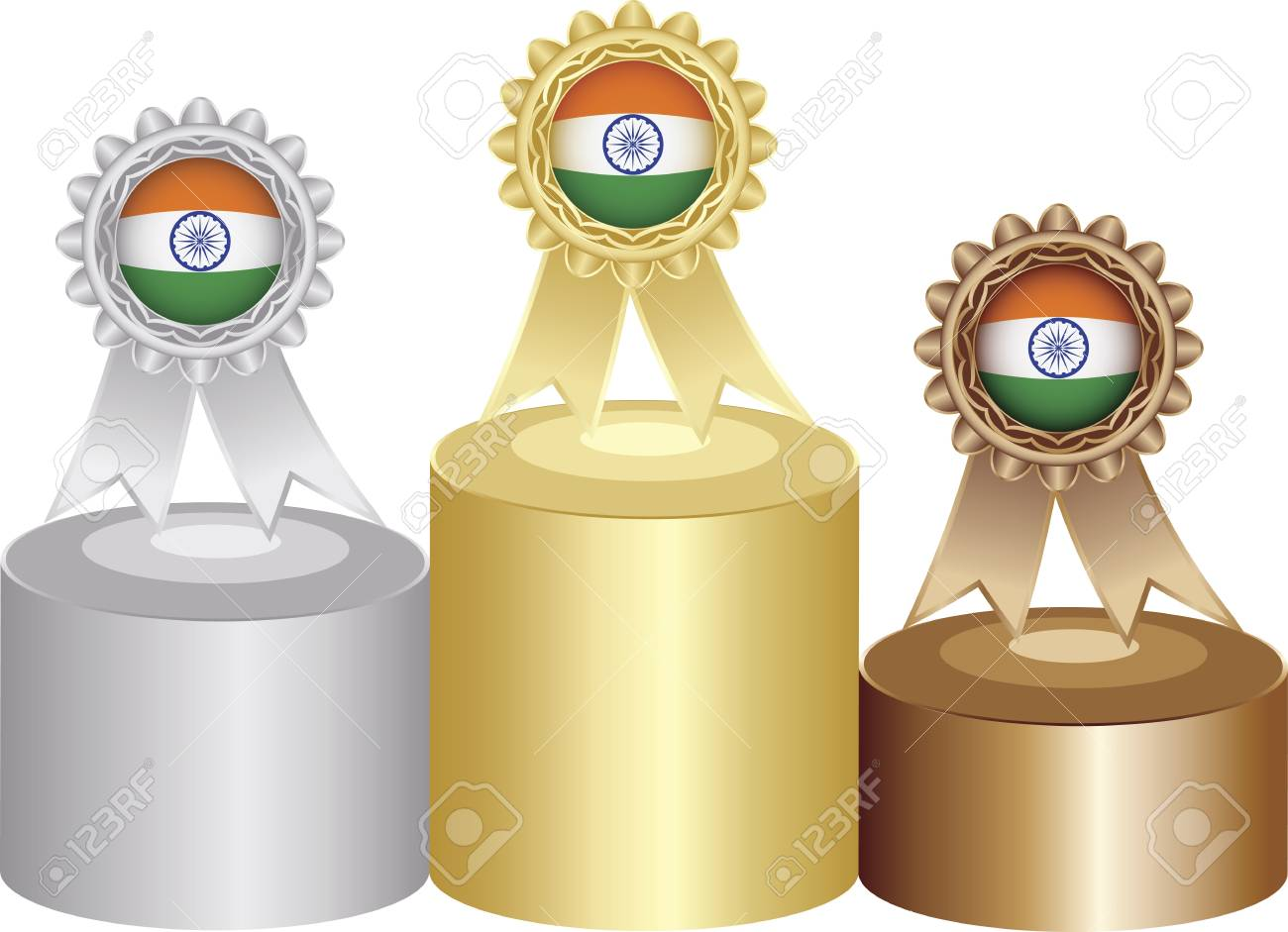 indian medal labels Stock Vector - 11527091