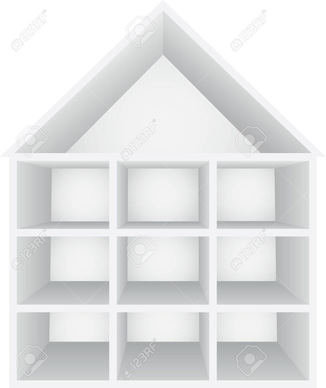 Perspective view of house Stock Vector - 13425167