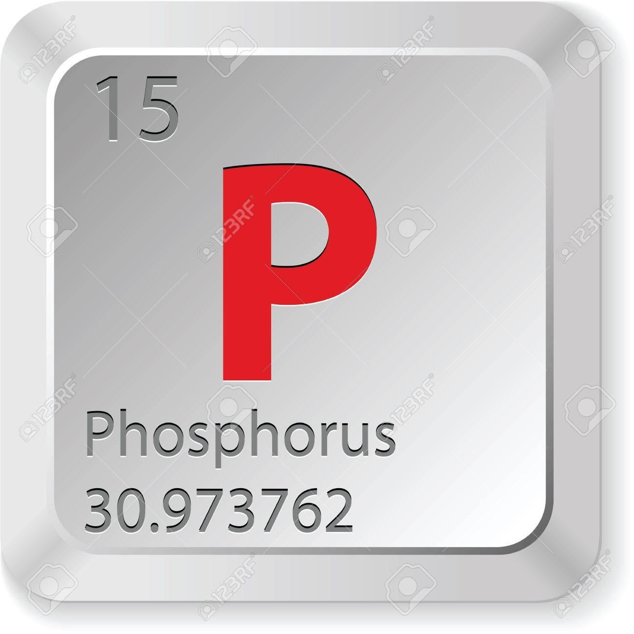 phosphorus button Stock Vector - 16135730