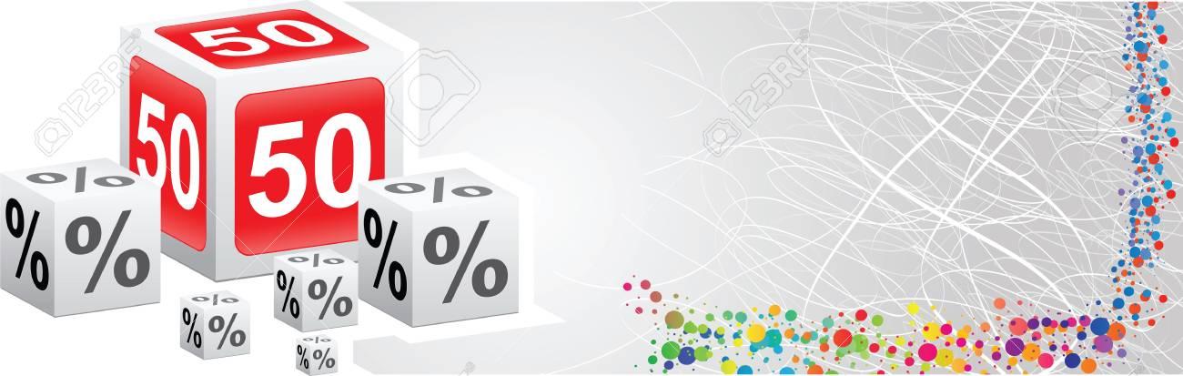 fifty percent discount Stock Vector - 16669860