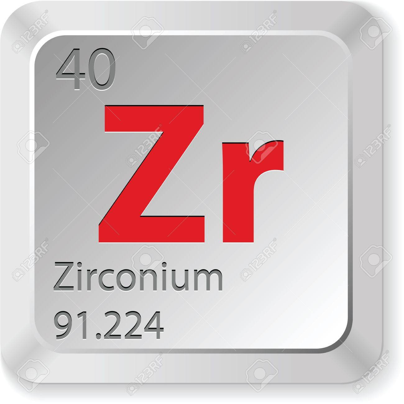Zirconium Element Royalty Free Cliparts, Vectors, And Stock ...