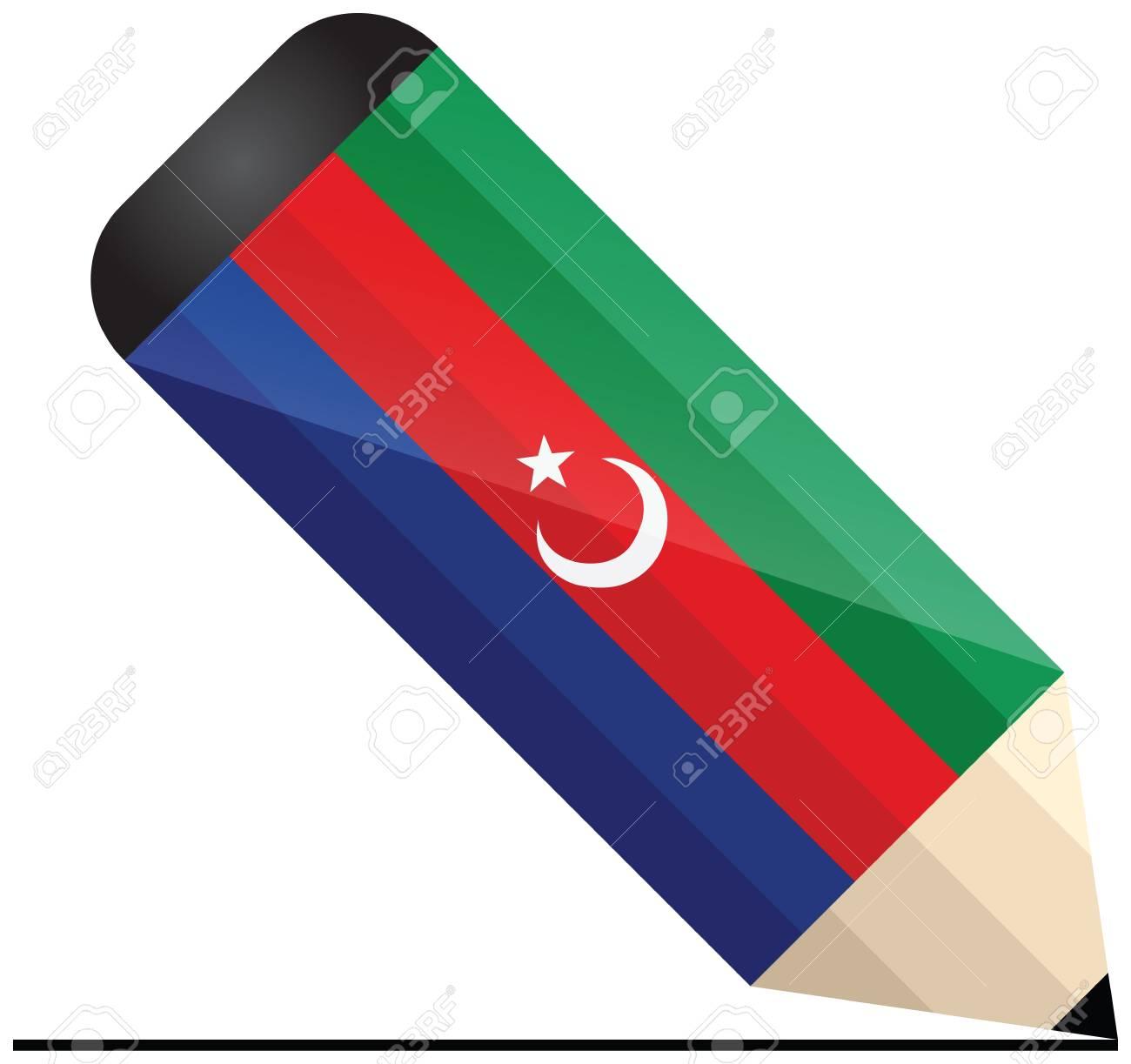 Azerbaijani pencil Stock Vector - 21014286