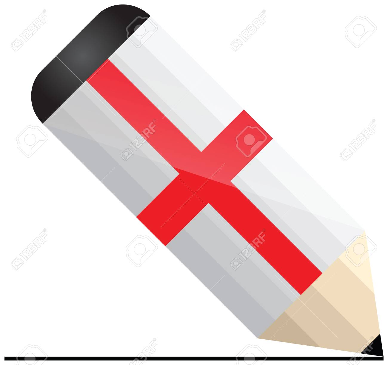 English pencil Stock Vector - 21014289