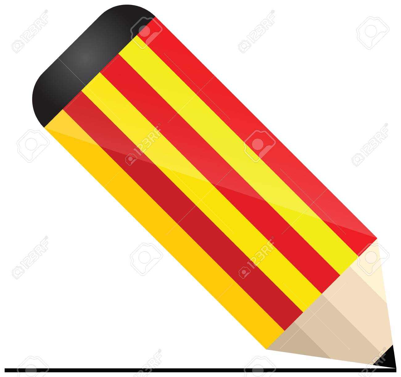 catalonia pencil Stock Vector - 21014290