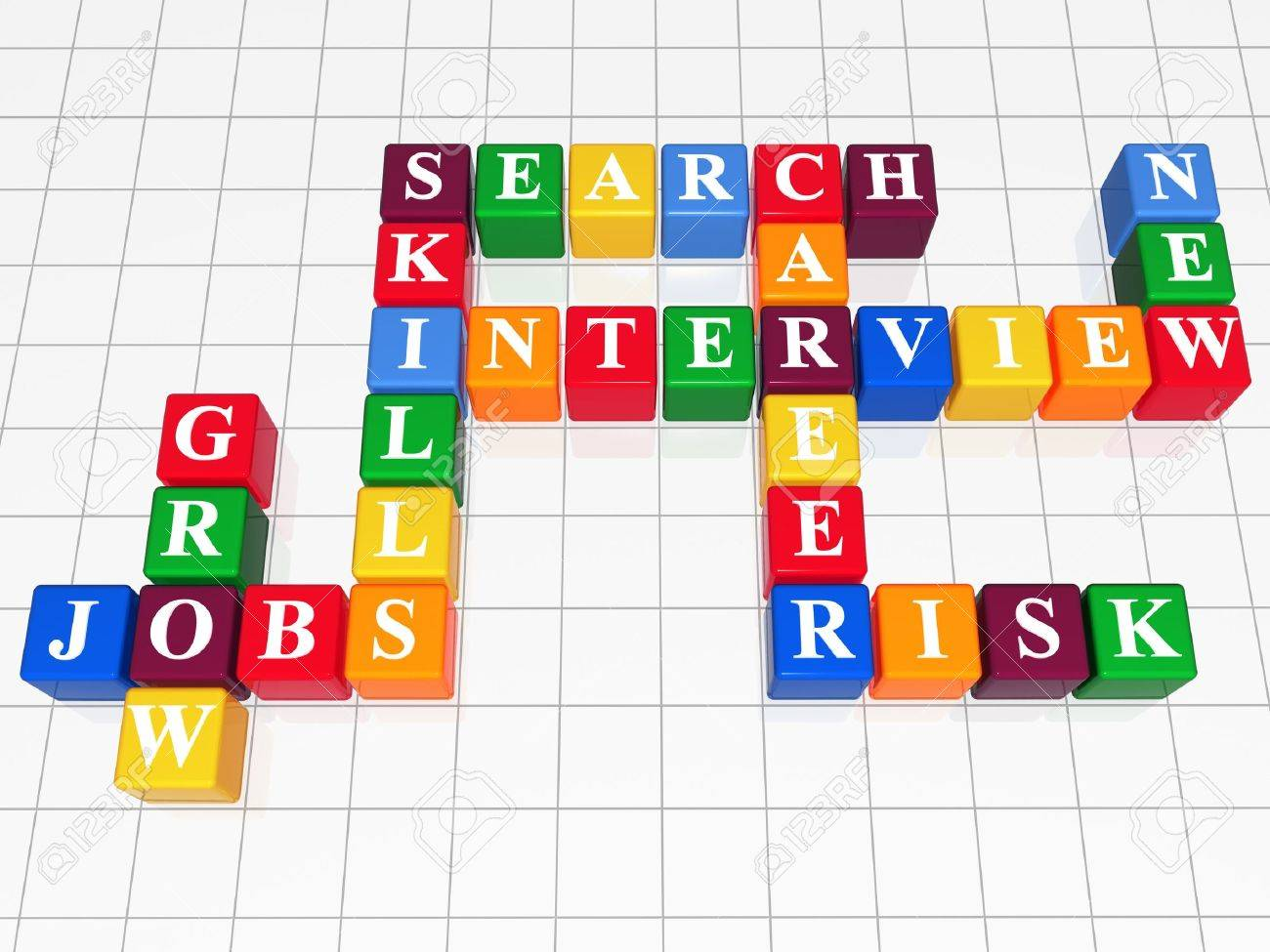d color boxes like crossword jobs interview search career 3d color boxes like crossword jobs interview search career skills