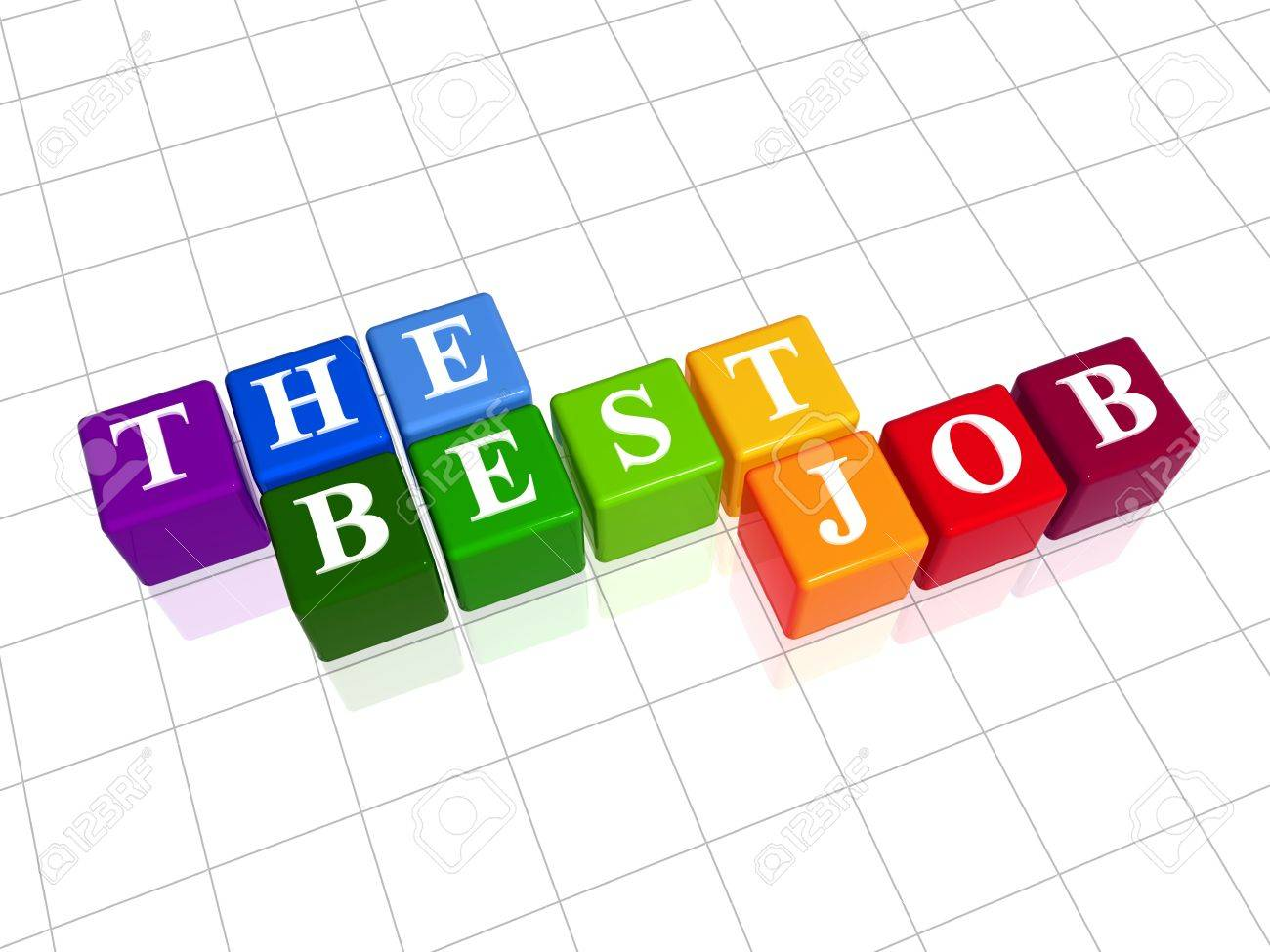 d colour boxes text the best job word stock photo 3d colour boxes text the best job word stock photo 3393009