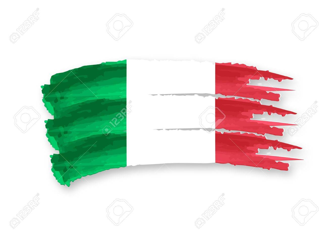 Illustration of Isolated hand drawn Italian flag Stock Illustration - 14239508