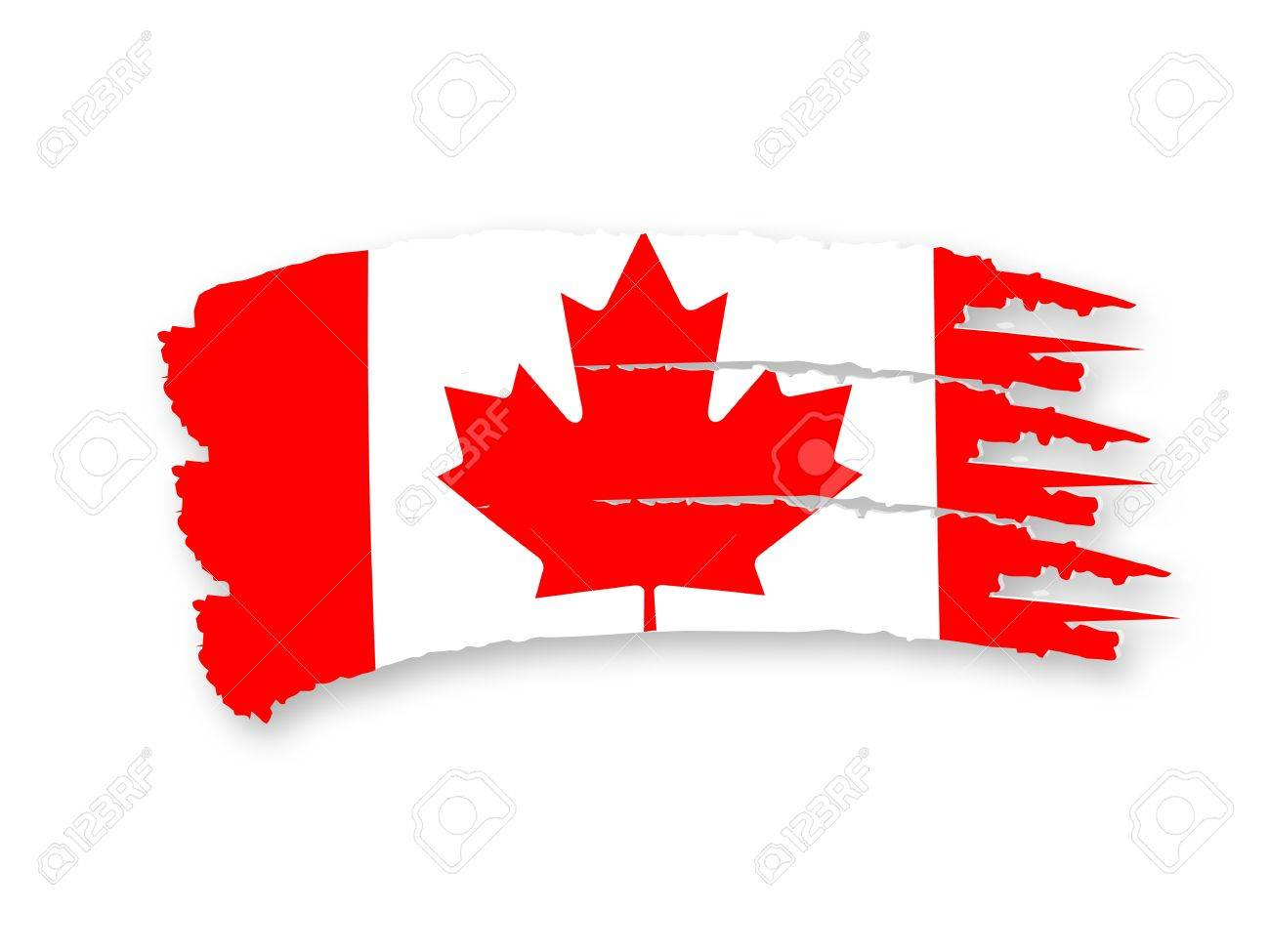 Illustration of Isolated hand drawn Canadian flag Stock Illustration - 14373852