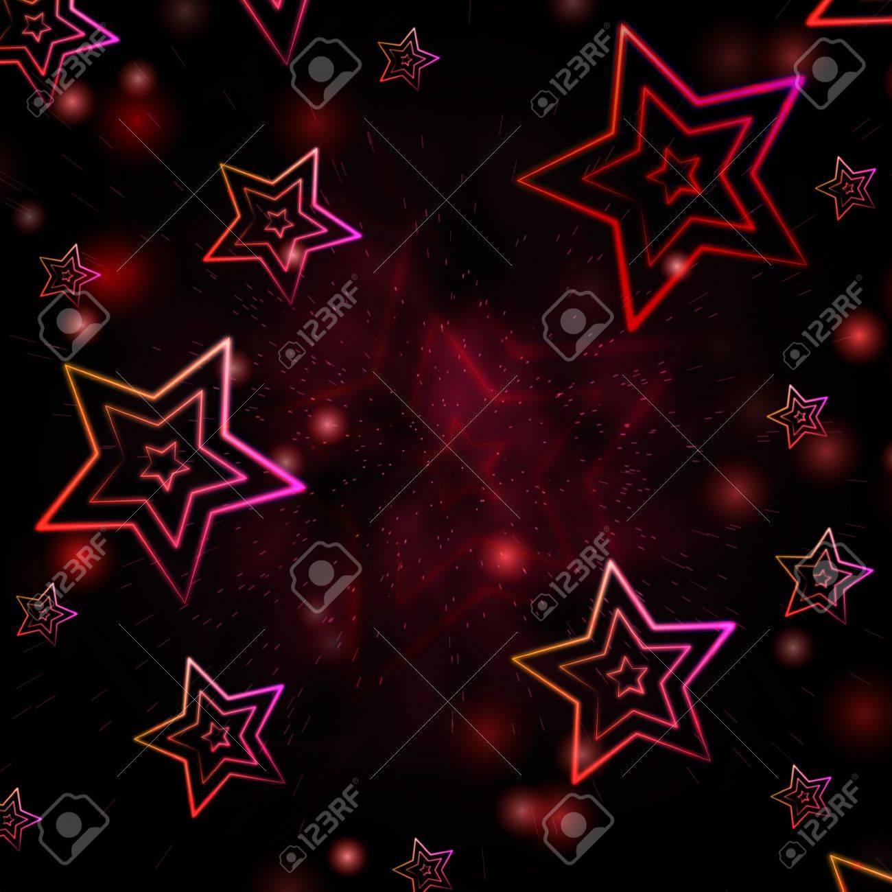 Abstracte Rode Achtergrond Met Geillustreerde Witte Sterren