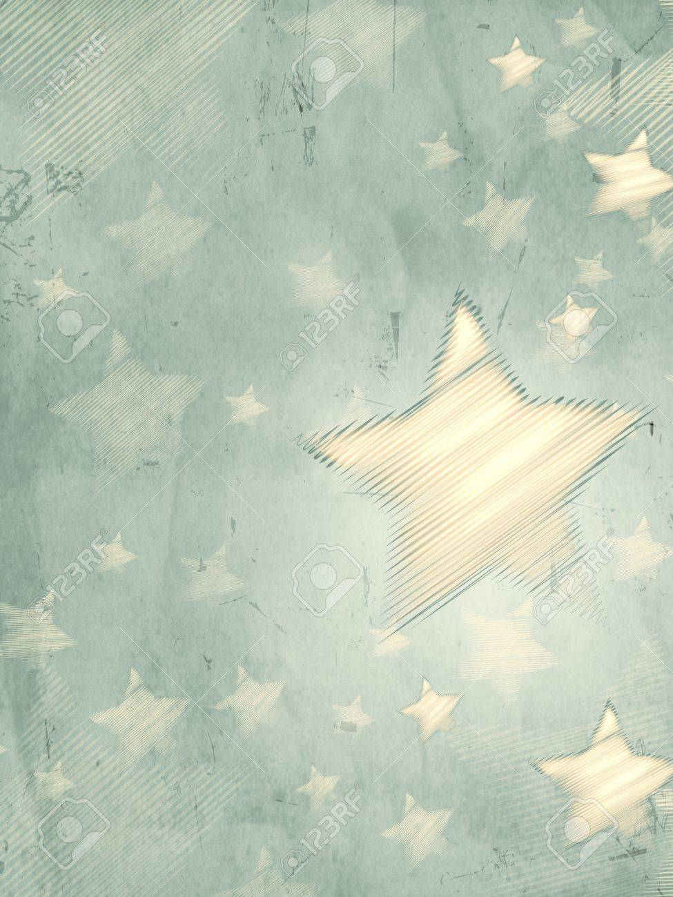 abstract grey background with illustrated striped stars, retro christmas card, vertical Stock Photo - 16711544