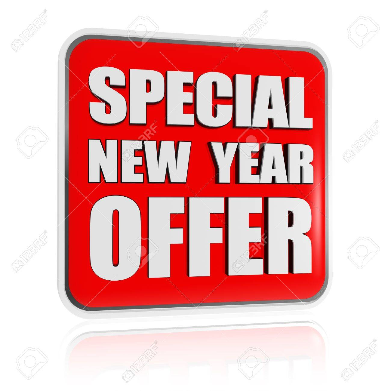 Special New Year Offer 3d Red Banner With White Text, Business ...