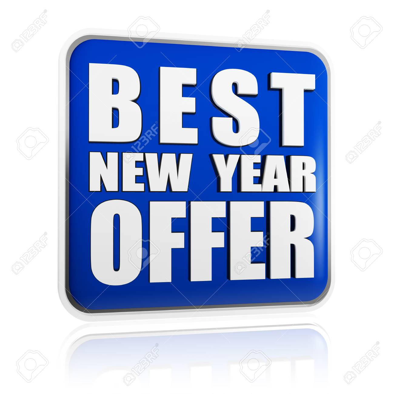 best New Year offer 3d blue banner with white text, business concept Stock Photo - 16844839