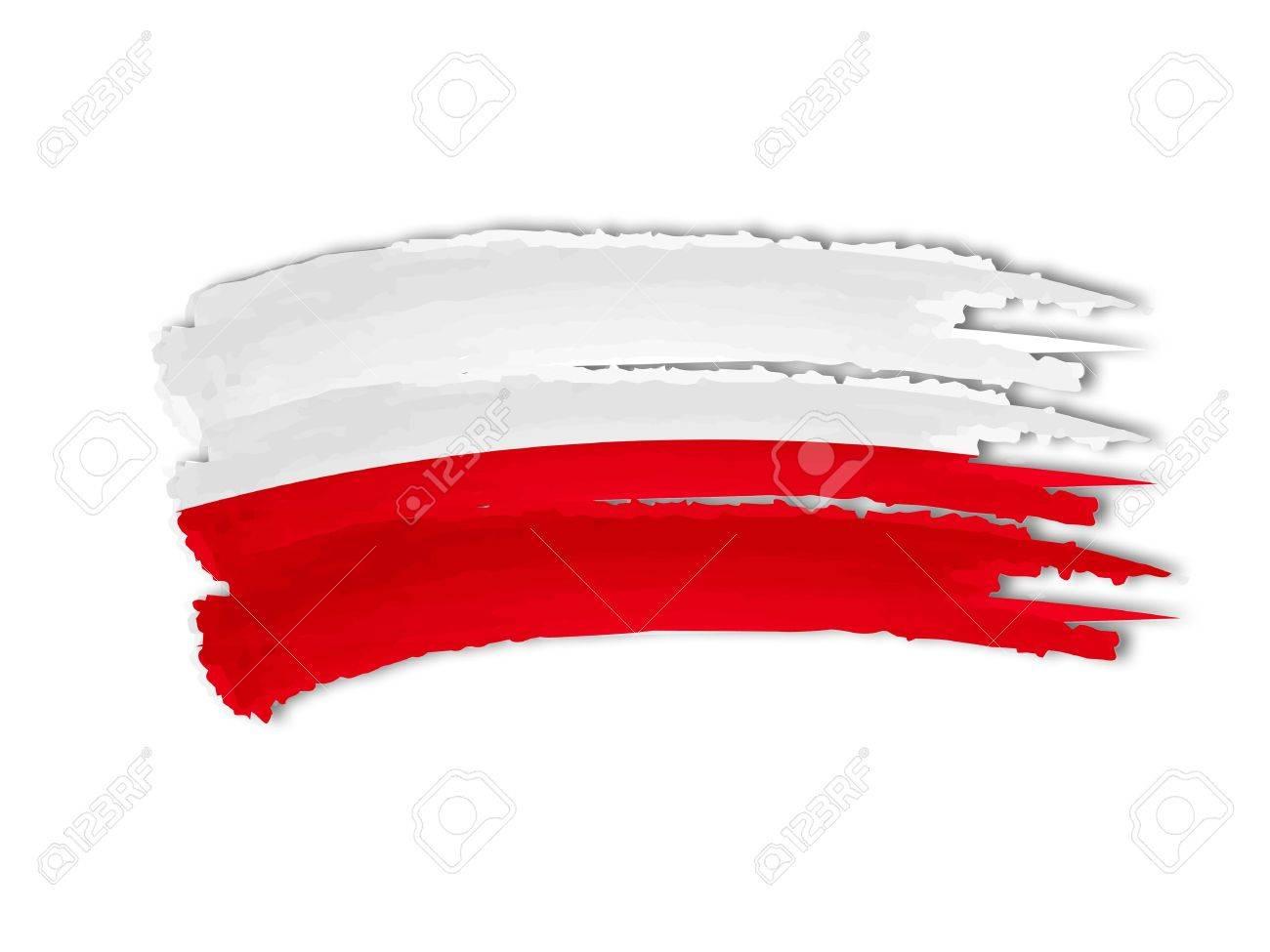 illustration of isolated hand drawn Polish flag Stock Illustration - 17249194