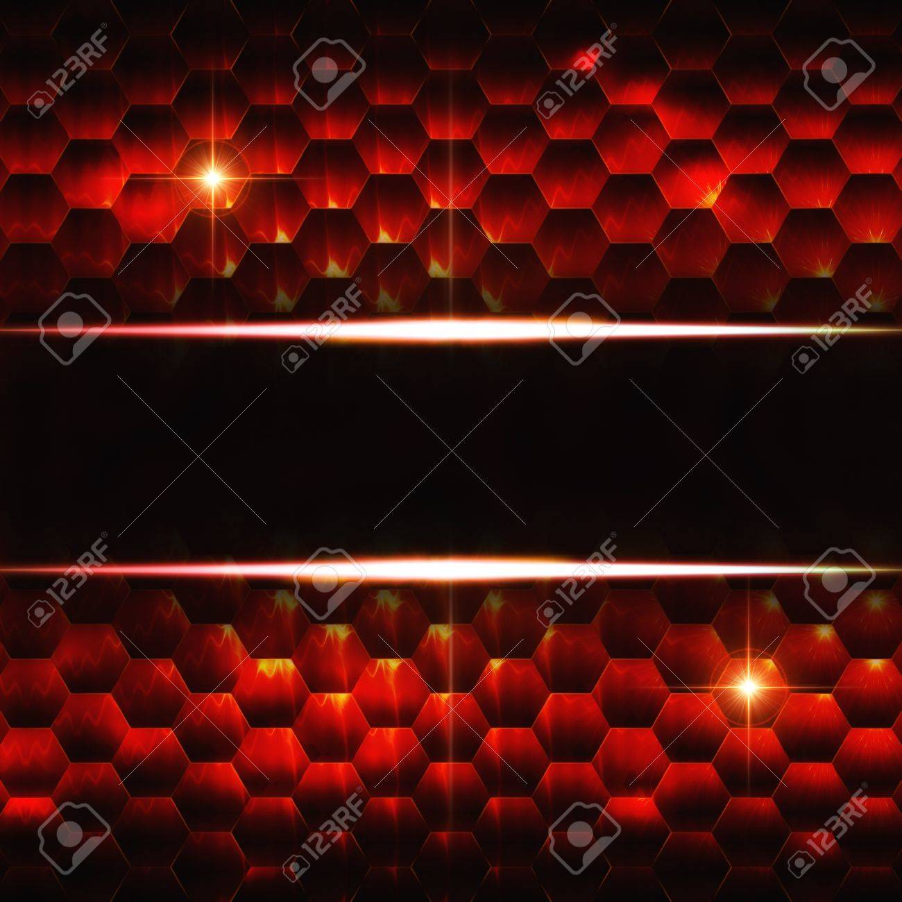 Abstract Black Red Background With Hexagons Lights And Text Stock Photo Picture And Royalty Free Image Image 17777625