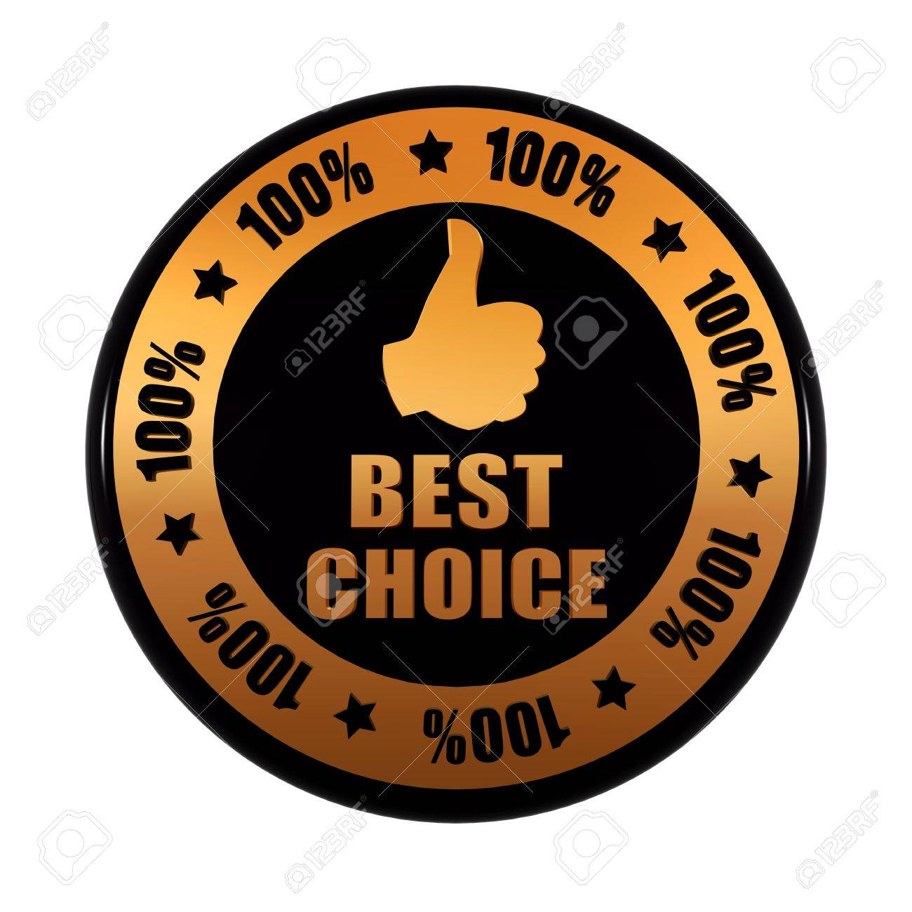 Best choice 100 percentages and thumb up sign text and symbol best choice 100 percentages and thumb up sign text and symbol in 3d golden black buycottarizona Image collections