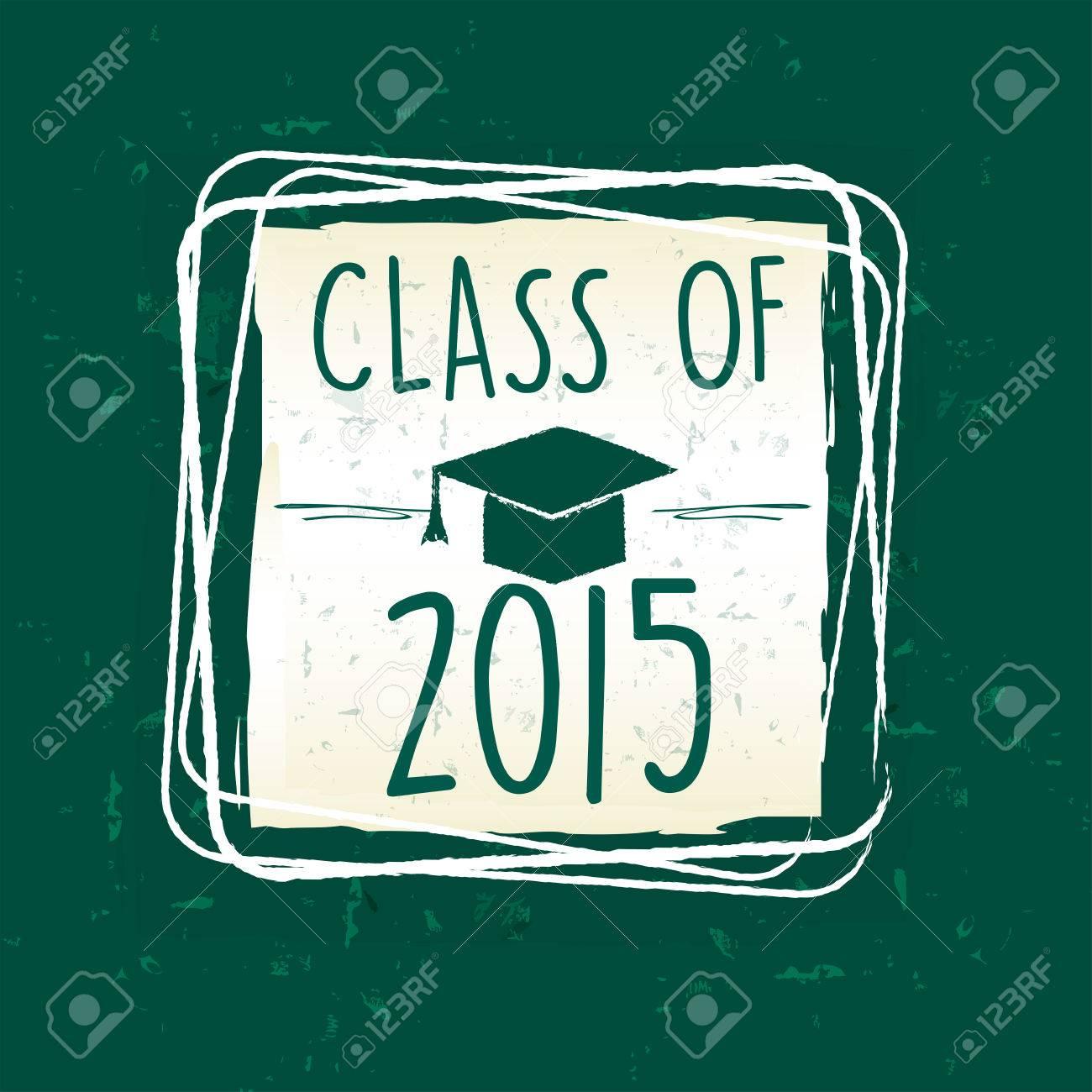 Klasse Von 2015 Text Mit Diplom-Kappe Mit Quaste - Doktorhut, In ...