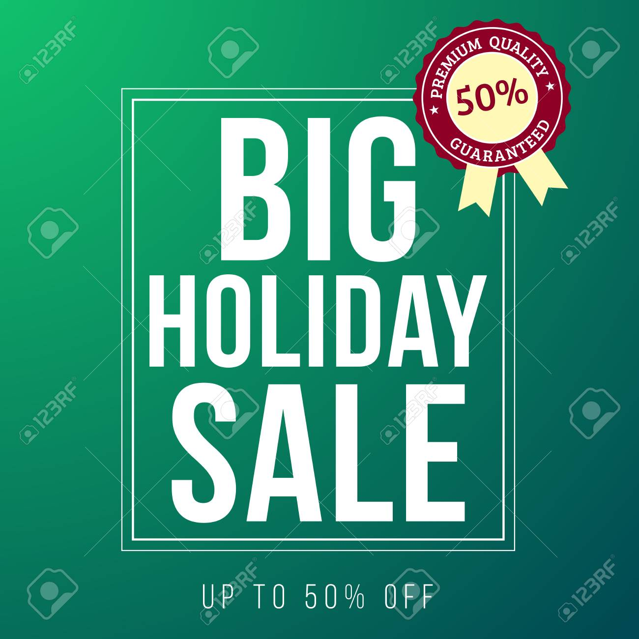 Holiday Sale Ad Designed In A Modern Flat Style On Green Background Stock Photo Picture And Royalty Free Image Image 34185110