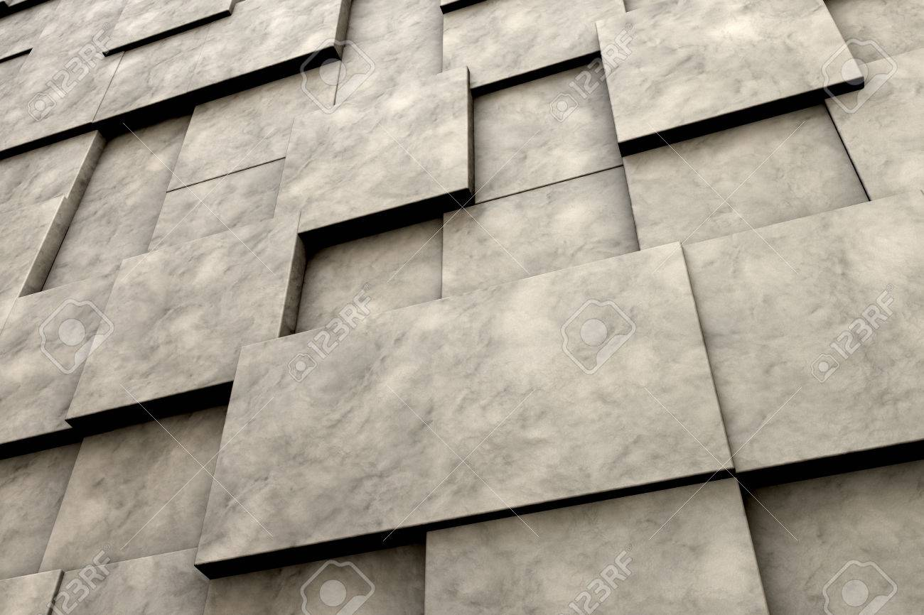 Field of brown square plates with stone texture. 3d render image Stock Photo - 41326757 & Field Of Brown Square Plates With Stone Texture. 3d Render Image ...