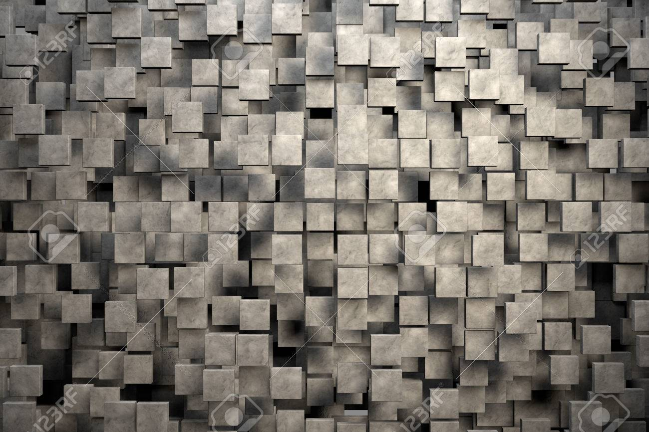 Field of brown square plates with stone texture. 3d render image Stock Photo - 41326766 & Field Of Brown Square Plates With Stone Texture. 3d Render Image ...