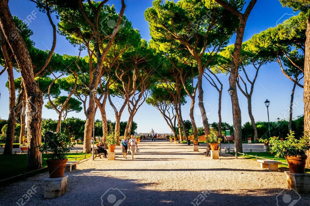 ROME, ITALY - OCTOBER 30: Orange Garden, Giardino Degli Aranci ...